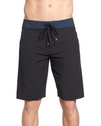 RVCA | Black 'register Noise' Board Short for Men | Lyst
