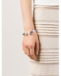 Alexis Bittar - White Face-to-face Hinge Bracelet - Lyst