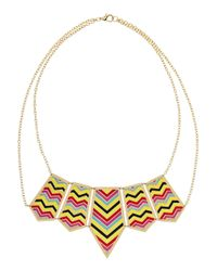 Noir Jewelry | Metallic Enameled Goldtone Necklace | Lyst