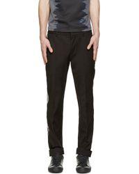 Calvin Klein - Black Pvc Trim Trousers for Men - Lyst