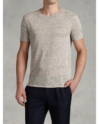 John Varvatos | Gray Short Sleeve Heather Crewneck for Men | Lyst