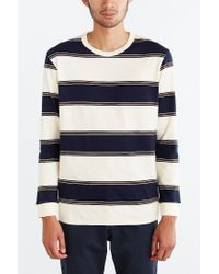 BDG - Blue '80s Stripe Long-sleeve Tee for Men - Lyst