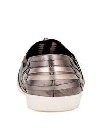 Elliott Lucca - Metallic Rani Woven Leather Flats - Lyst