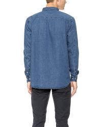 Won Hundred - Blue Leon Shirt for Men - Lyst