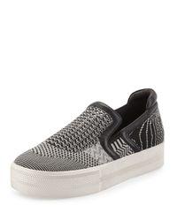 Ash - Black Jeday Knit Slip-on Sneaker - Lyst