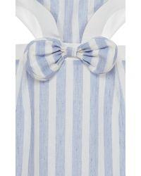 Vivetta - Blue Rosa Cutout Linen Dress - Lyst