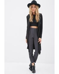 Forever 21 | Gray High-waisted Crepe Pants | Lyst