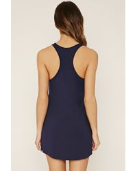 Forever 21 - Blue Nap Time Graphic Nightdress - Lyst