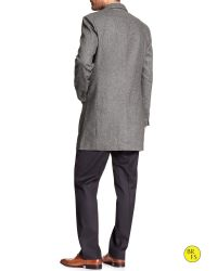 Banana Republic - Gray Factory Wool-blend Topcoat for Men - Lyst