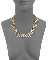 ABS By Allen Schwartz - Metallic Seaglass Brights Bar Necklace - Lyst