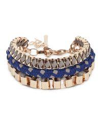 John & Pearl - Blue Akumal Rose Gold Tone Bracelet - Lyst