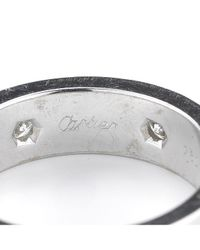 Cartier - Metallic Pre-owned: 18kw And Diamond Love Band - Lyst