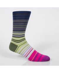 Paul Smith - Multicolor Men's Stripe Socks Three Pack for Men - Lyst