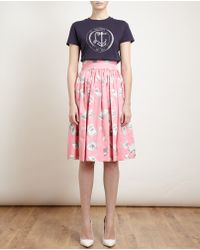 Olympia Le-Tan - White Anchor Illustrated Cotton Tshirt - Lyst