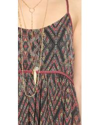 Free People - Multicolor So Nice Chiffon Dress - Ivory Combo - Lyst