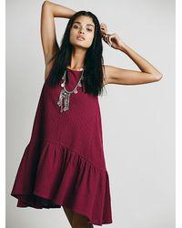 Free People - Purple Womens Turn It On Knit Dress - Lyst