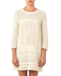 Vanessa Bruno Athé - Natural Billy Guipure-lace Dress - Lyst