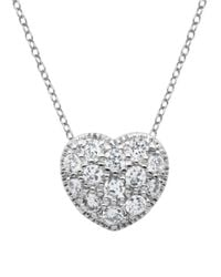 Lord & Taylor | Metallic Silvertone And Crystal Heart Pendant Necklace | Lyst