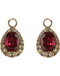 Annoushka - Multicolor 18ct Rose-gold, Garnet And Diamond Earring Drops - Lyst