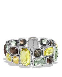 David Yurman - Metallic Mosaic Bracelet With Lemon Citrine, Cognac Diamonds & Gold - Lyst
