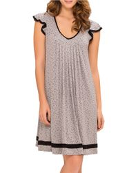 Ellen Tracy   Gray Plus Yours To Love Short Sleeve Chemise   Lyst
