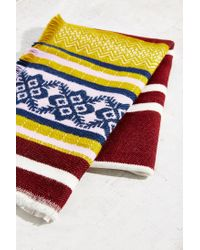 Urban Outfitters - Multicolor Multi Stripe Blanket Scarf - Lyst