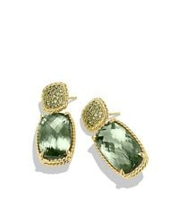 David Yurman | Yellow Chatelaine Drop Earrings With Prasiolite And Demantoid Garnets In 18k Gold | Lyst