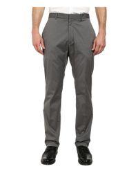 Perry Ellis - Black Slim Fit Cotton Flat Front Dress Pants for Men - Lyst