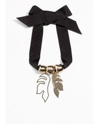 & Other Stories - Black Tropical Collar Necklace - Lyst