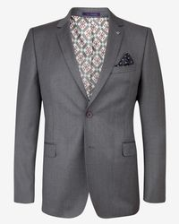 Ted Baker | Gray Wool Suit Jacket for Men | Lyst