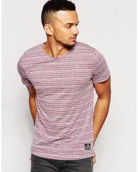 Jack & Jones | Purple Stripe T-shirt for Men | Lyst