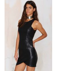 Nasty Gal - Black Glamorous Tear It Up Mini Dress - Lyst