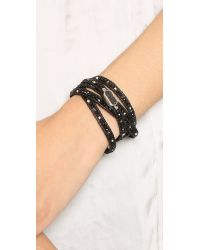 Chan Luu | Druzy Beaded Wrap Bracelet - Onyx Mix/natural Black | Lyst