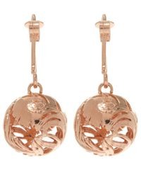 Alex Monroe - Pink Rose Gold-plated Peacock Hook Earrings - Lyst