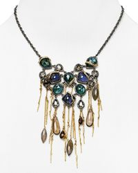 Alexis Bittar - Metallic Labradorite Tassel Bib Necklace 18 - Lyst