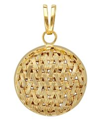 Lord & Taylor | Metallic 14 Kt. Yellow Gold Basket Weave Necklace | Lyst