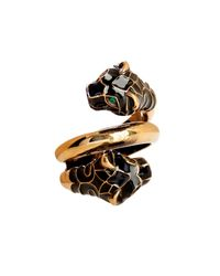 Gucci - Black Tiger Swarovski Crystal Ring - Lyst