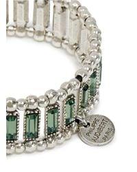 Philippe Audibert - Green Titia Erinite Crystal Embellished Elasticated Bracelet - Lyst