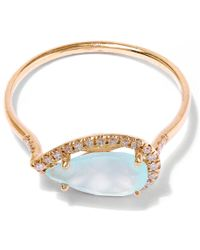 Suzanne Kalan - Blue Gold Chalcedony Diamond Ring - Lyst