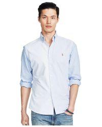 Polo Ralph Lauren | Blue Striped Oxford Shirt for Men | Lyst