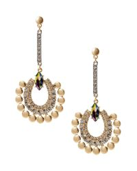 Banana Republic | Metallic Peacock Drop Earring | Lyst