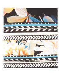 Roberto Cavalli - Black Floral Printed Maxi Dress - Lyst