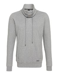 BOSS - Gray 'sweatshirt' | Cotton Cocoon Neck Sweatshirt for Men - Lyst