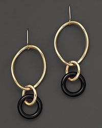 Faraone Mennella | Metallic 18 Kt Gold Stella Drop Earrings with Black Onyx Link | Lyst