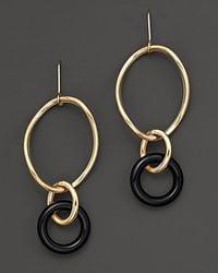 Faraone Mennella | Metallic 18 Kt Gold Stella Drop Earrings with Black Onyx Link | Lyst