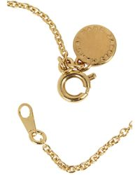 Marc By Marc Jacobs - Metallic Gold Tone Enamel Disc Necklace - Lyst