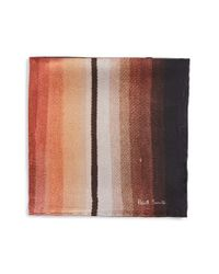 Paul Smith - Brown 'mainline' Silk Pocket Square for Men - Lyst