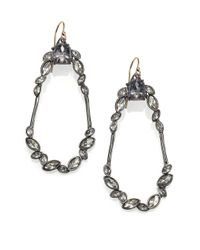 Alexis Bittar - Gray Miss Havisham Liquid Crystal Broken Glass Oval Drop Earrings - Lyst