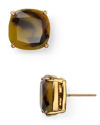 kate spade new york - Pink Small Square Stud Earrings - Lyst