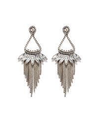 Forever 21 | Metallic Chained Chandelier Earrings | Lyst